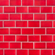 Intensive red brick wall — Stock Photo