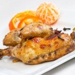 Chicken legs baked in oriental style — Stockfoto