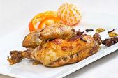 Chicken legs baked in oriental style — Stock Photo