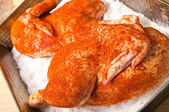 Salt-baked chicken — Stock Photo