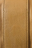 Brown leather with seams — Stock Photo