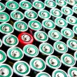 Row of  batteries — Stock Photo