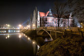National Museum in the night, Wroclaw — Stock Photo
