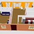 Stok fotoğraf: 3d apartment floor plan.