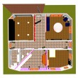 3d apartment floor plan — Stock Photo