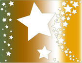 Abstract asterisk star — Stock Photo