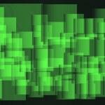 緑の正方形の背景 eps 9 を抽象化します。 — ストック写真