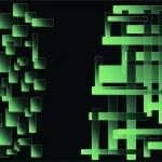 抽象的なグリーン角丸正方形の背景 eps10 — ストック写真
