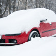 Car covered in snow — Stock Photo #8038370