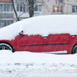 Car covered in snow — Stock Photo
