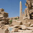 Stock Photo: Obelisk at the Karnak Temple