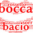 Foto de Stock  : Mouth tag cloud
