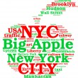 Royalty-Free Stock Photo: New York city, the big apple tag cloud