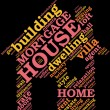 House - shaped tag cloud , home symbo — Stock Photo #10197078