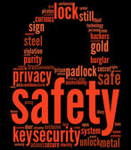 Padlock tagcloud — Stock Photo