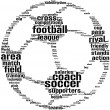 Football ball tagcloud — Stock Photo