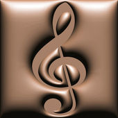 Chocolate treble clef — Stock Photo