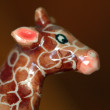 Artificial ceramic giraffe — Stock Photo