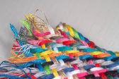 Gedraaide katoen gekleurde treden — Stockfoto