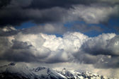 Wolken über den alpen — Stockfoto