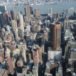 Aerial view over  Manhattan - Foto de Stock