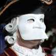 Casanova Mask in Venice Carnival - Stock Photo