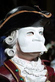 Casanova Mask in Venice Carnival — Stock Photo