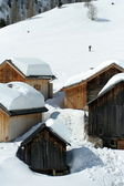 Houses covered in snow — Stock Photo