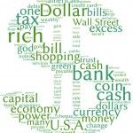 Dollar symbol communication tag cloud — Stock Photo #9260223