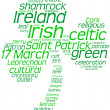 Saint Patrick's Day tag cloud shamrock - Stock Photo