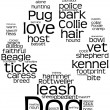 ������, ������: Dog word cloud pawprint