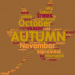 Autumn leaf tag cloud — Stock Photo