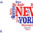 I love New York - tag cloud — Stock Photo