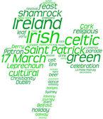 Saint Patrick's Day tag cloud shamrock — Stock fotografie