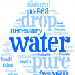 Water  drop wordcloud — Stock Photo