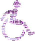 Disability tagcloud sign — Stock Photo