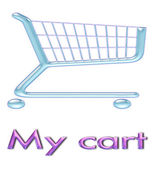 Shopping cart icon 3d — Stock Photo
