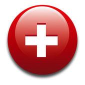 Distintivo - bandiera svizzera — Foto Stock
