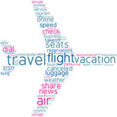 Aeroplane tag cloud shape — Stock Photo