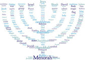 Menorah tagcloud — Stock Photo