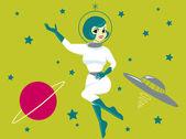 Space Girl — Stock Vector