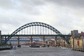 Tyne Bridge spanning the river, Newcastle-upon tyne — Stock Photo