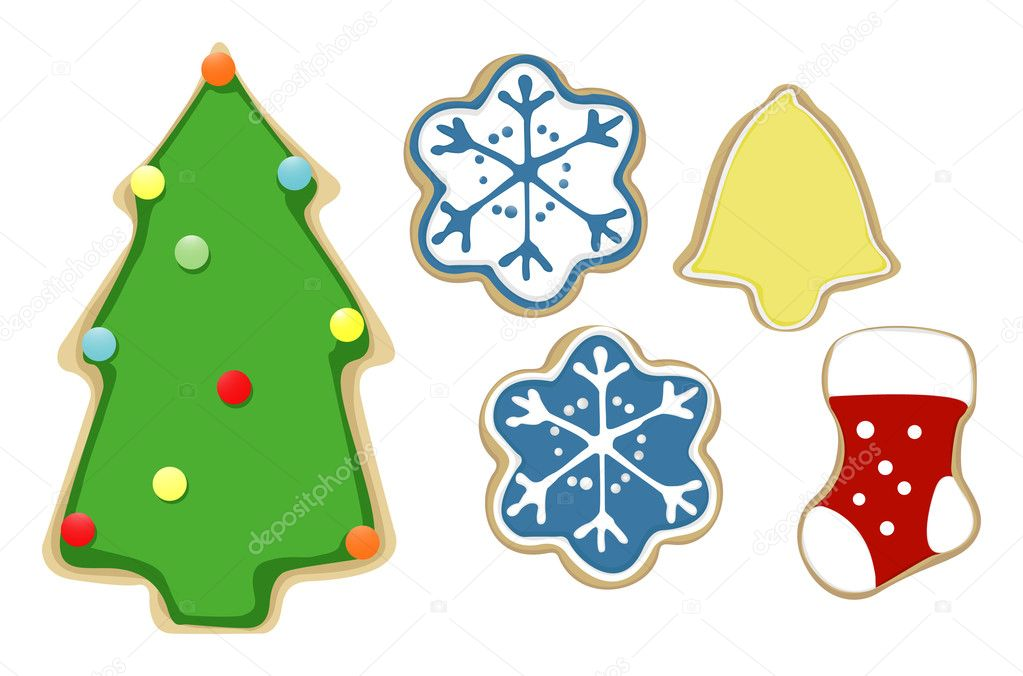 Illustration of some Chrsitmas cookies  Stock Vector #7968828