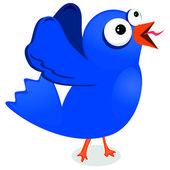 Blue tweeter — Stock Vector