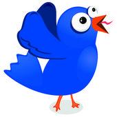 Blue tweeter — Stock Vector