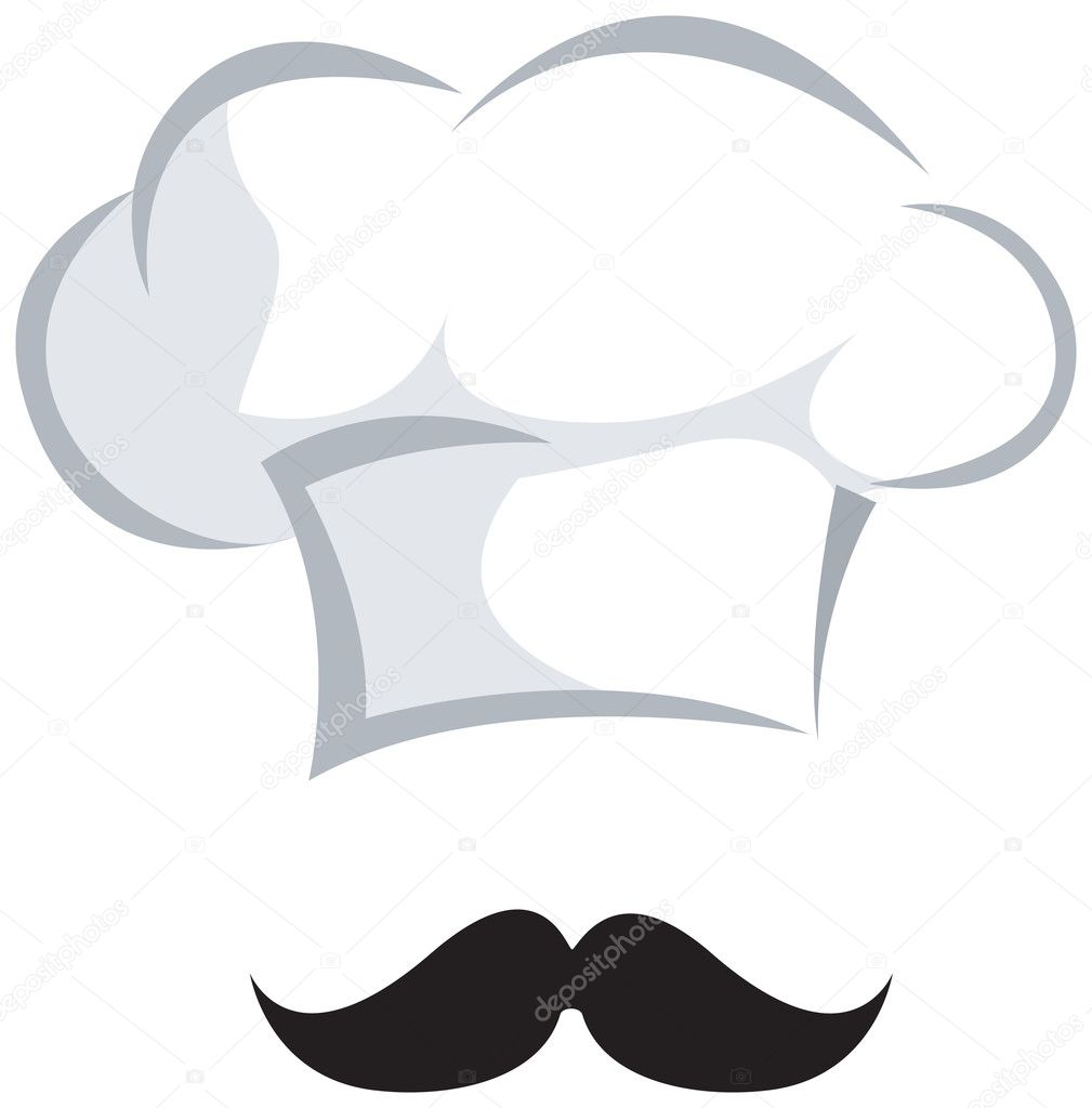 Pizza Chef Hat Chef Hat And a Moustasche