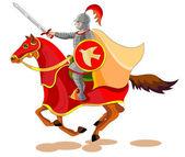 Equestrian of the Apocalypse,War — Stock Vector