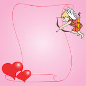 Young cupid. — Stock Vector
