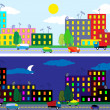 City night and day — Stock Vector #8794994