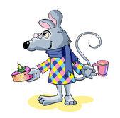 Gelukkig muis — Stockvector